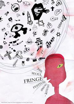 This is a work of Fringe Festival for my subject in Interesting and Various Imagination? Edinburgh Fringe Festival, Art Festival, Project Life, Seoul, Imagination, Projects, Poster, City, Log Projects