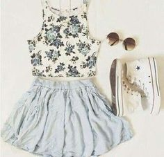 Spring Outfits for Teens Cute Summer Outfits, Outfits For Teens, Spring Outfits, Casual Outfits, Cute Outfits, Outfit Summer, Summer Clothes, Summer Ootd, Spring Summer