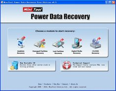 Mini Tool Power Data Recovery could recover deleted file from FAT32, FAT16 and NTFS partition, etc
