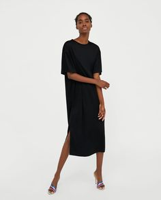 Image 1 of LONG DRESS WITH SLITS from Zara