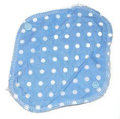 Blue polka dot reusable pantyliner  reusable by leonorafi on Etsy