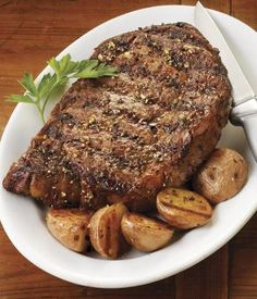 Weber Grill & Weber Recipes - can't beat a good ribeye!