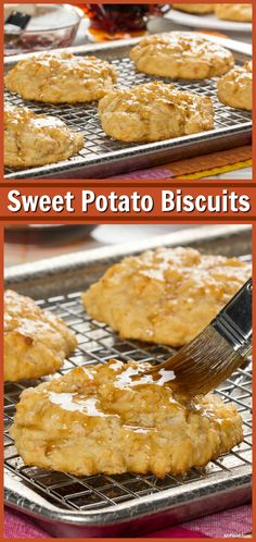 Sweet Potato Biscuits just the way they make them in the South! They're even better when you serve them with a little honey or syrup.