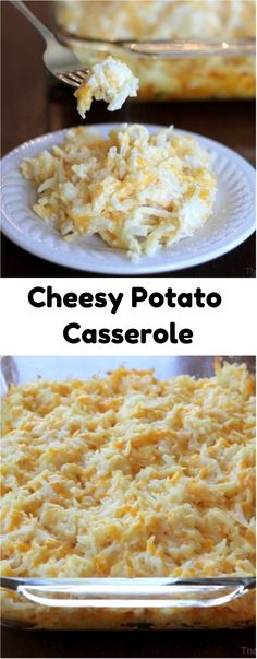 Cheesy Potato Casserole #potato #casserole #hashbrowns #cheesy