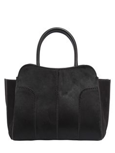 TOD'S SMALL SELLA LEATHER TOP HANDLE BAG. #tods #bags #hand bags #suede #lining #