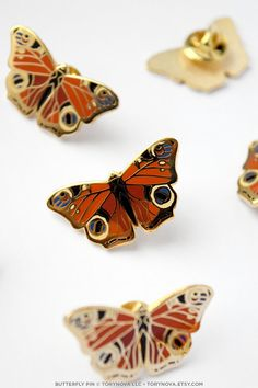Peacock Butterfly Pin by torynova on Etsy