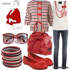 Casual chic in red