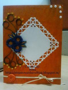Quilled orange Card