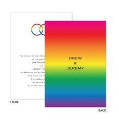 Rainbow Rings   Invitation