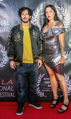 Greg Ferro and Guilia Smith movie Desert at La Jolla Fashion Film Festival UC San Diego Chelsea Hotel Films Chelsea Hotel, Film Fashion, La Jolla, Films, Movies, Film Festival, San Diego, Bomber Jacket, Jackets