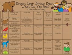 Brown bear weekly plan