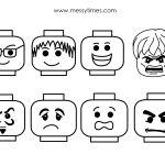 Lego Face Printables