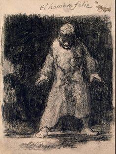 Francisco Goya, A Happy Man Francisco Goya, Drawing Sketches, Art Drawings, Spanish Artists, Gravure, Oeuvre D'art, Figurative Art, Dark Art, Painting & Drawing