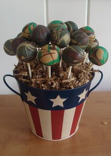 Sweet Treats by Bonnie: Camouflage Cake Pops
