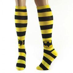 Batman Logo Stripes Knee High Socks