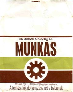 Hungarian 'Munkas' cigarette pack - Munkas translates to Worker