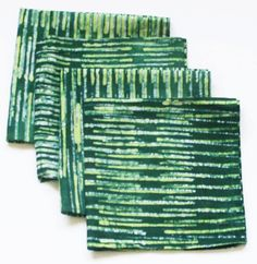 Green Cloth Napkin Batik Stripe 1 only Green Table, Cloth Napkins, Gifts For Mom, Wedding Day, Trending Outfits, Prints, Clothes, Etsy, Women
