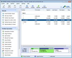 Hunting for an easy-to-use software to manage hard disk partition for Windows OS? AOMEI Partition Assistant is the right one for your PC, guaranteeing you get the full features for creating, resizing, deleting, merging, splitting partition and more in order to completely control your hard disk drives. For more information: http://www.disk-partition.com