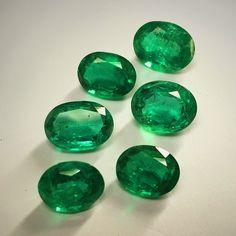 2ct.+ Zambian Emerald Ovals. #emeralds #gemstones