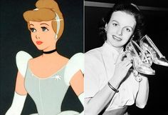 The Real Women Behind Disney Princesses - Cinderella (1950) – Ilene Woods Ilene Woods was personally selected to voice Cinderella by Walt Disney from a pool of over 300 actresses. Woods sang for both President Roosevelt and President Truman and was named a Disney Legend in 2003.