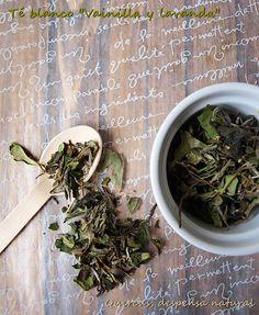 "Té blanco ""Vainilla y lavanda"" Té blanco Pai Mu Tan, té verde Sencha, lavanda, vainilla, aroma natural"