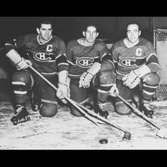 """Legendary Lines & Linemates - """"The Punch Line: Richard, Lach, Blake"""" Hockey Teams, Hockey Players, Ice Hockey, Montreal Canadiens, Nhl Highlights, Nhl All Star Game, Hui, Athletes, Punch"""