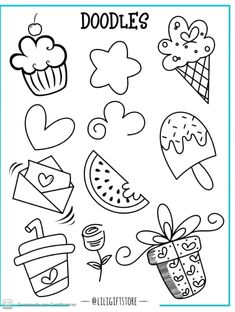 Doodle Drawings, Easy Drawings, Doodle Art, Bullet Journal Art, Bullet Journal Ideas Pages, Coloring Books, Coloring Pages, Just Add Magic, Love Doodles