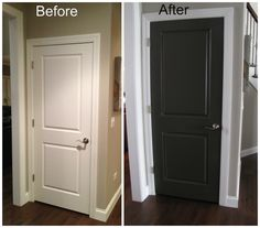 Black Doors Design Interior With White Trim In Inspiration Door Paint