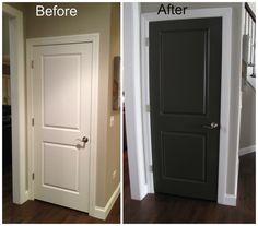 ... Black Doors Design Black Interior Doors With White Trim in Inspiration
