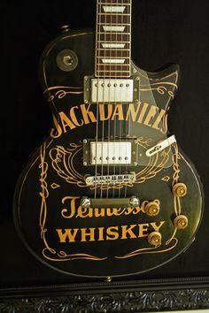 Pauleira Jack Daniel's Fan Guitar - Relic plus board for decoration and promo. Guitar Painting, Guitar Art, Music Guitar, Cool Guitar, Playing Guitar, Ukulele, Gretsch, Jack Daniels Logo, Rock Poster