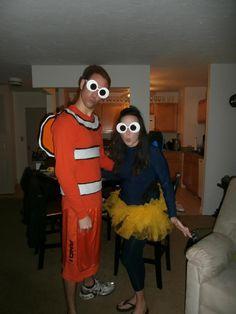 Nemo and Dory Costume.  DIY Couples Costume Nemo and Dory - Finding Nemo  #disneycostume #findingnemo #couplescostume