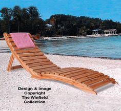 Folding Lounger Woodworking Pattern