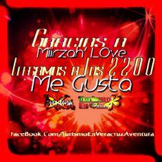 Gracias a @Miirzah'Love por darle #megusta en #facebook http://www.facebook.com/TurismoEnVeracruzAventura llegamos a los 2200 #likes