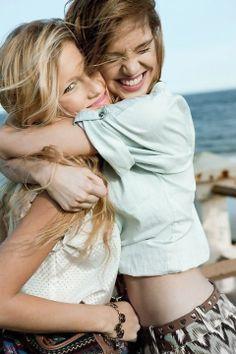 Besties female friends hugging #BFF