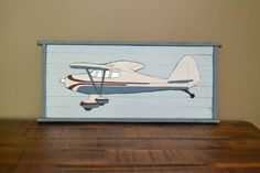 Wooden picture of airplane  great to decorate a by blueowlsstudio, $17.00