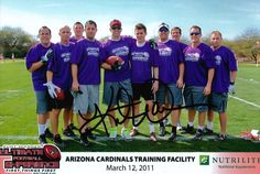 Picture of the Team Nutrilite with our QB Kurt Warner. Yup, that's Kurt with his arm around me...AND signed the picture.