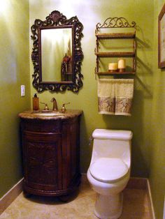After: Green & Guest-Ready  - More Beautiful Bathroom Makeovers From Rate My Space on HGTV