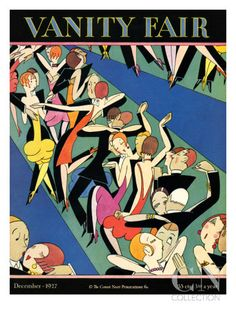 Vanity Fair Cover - December 1927 Premium Giclee Print