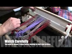 Basic Cricket Loom weaving http://www.youtube.com/watch?v=4hRaRGEHP2A