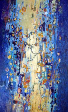 Beaded Curtain Painting by Dale Witherow Modern Art, Contemporary Art, Acrylic Artwork, Encaustic Art, Sewing Art, Art Plastique, Art Tutorials, Painting Inspiration, Art Pictures