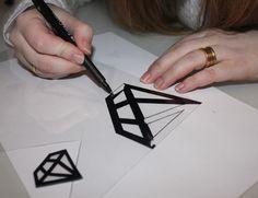 DIY jewelry in shrink plastic