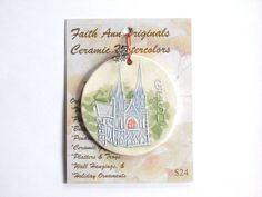 GESU CHURCH handmade ceramic ornament by FaithAnnOriginals on Etsy, $24.00