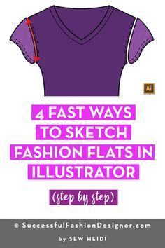 8 Best Sew Heidi Images Fashion Design Jobs Illustrator Tutorials Fashion Flats