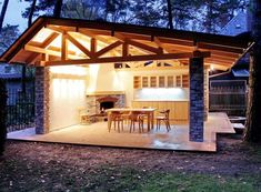 Covered pergola is a great addition to an outdoor kitchen. It protects your kitchen from the elements and takes your backyard design to a whole new level. Backyard Play, Backyard Patio, Roof Design, Patio Design, Outdoor Living Rooms, Covered Pergola, Garden Buildings, Outdoor Kitchen Design, Pergola Designs