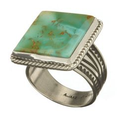 Bagues Homme #bagueturquoise #navajo