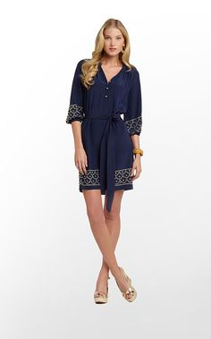 Perla Dress in True Navy $278 (w/o 12/8/12) #lillypulitzer #fashion #style - I worked on her stud art work