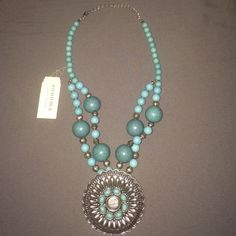 Sonoma Turquoise statement necklace NWT Excellent never before worn condition NWT from Kohl's Sonoma brand Turquoise necklace Sonoma Jewelry Necklaces
