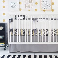 Golden Days in Gray Baby Bedding from New Arrivals, Inc.