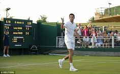 James Ward defeats Luca Vanni in four sets to move into Wimbledon second . James Ward, Andy Murray, Wimbledon, Taylor Swift