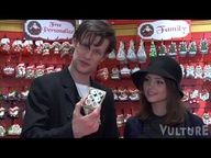Christmas Shopping with Doctor Who Actors Matt Smith and Jenna-Louise Coleman - So adorable! I died!!